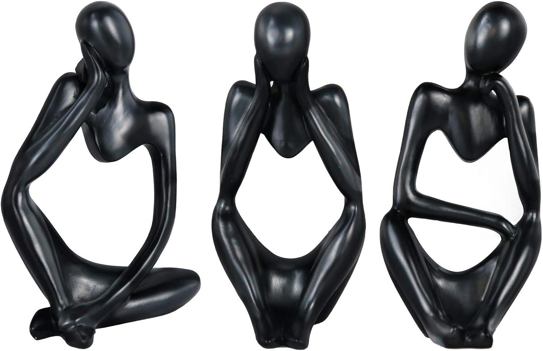 Lzttyee The Thinker Statue Set Mini Abstract Resin Thinker Statu
