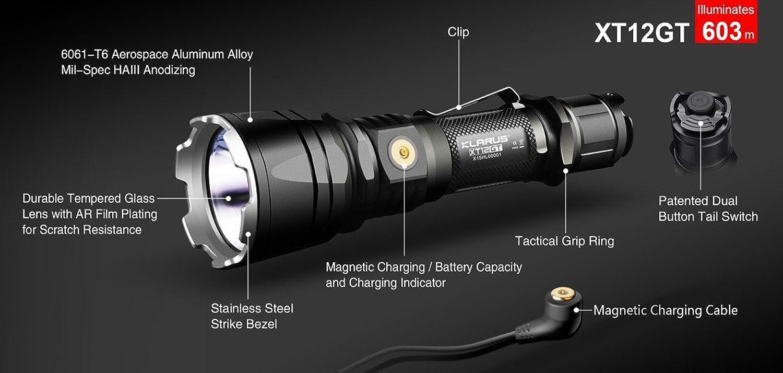 Klarus XT12GT XT12GT XT12GT XH-P35 HI LED 1600 Lumen taktische Taschenlampe mit Ladeanschluss B01N0QVJPQ | Verpackungsvielfalt  b37dd7