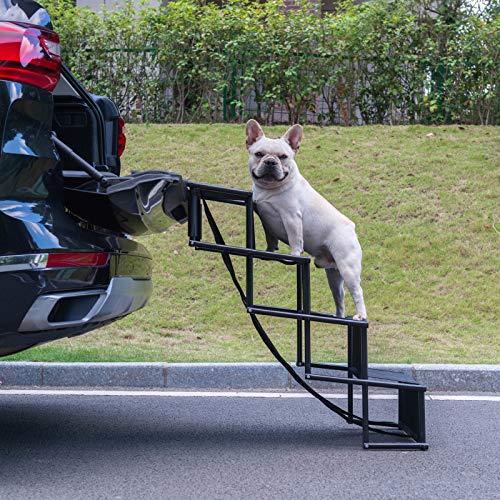 CuteBone GPT01 Tragbare Hundetreppe, leicht, zusammenklappbar, für Autos, LKWs, SUVs und hohe Betten
