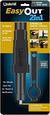Underhill A- EO-SRT-RS EasyOut 2in1 Rotor & Spray Head Sprinkler Removal Tool, Black