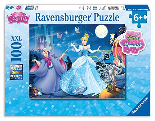 Adorable Cinderella 100 PC Glitter Puzzle