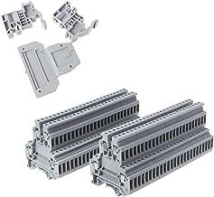 ESden Lot de 50 bornes /à Double rang/ée pour Rail DIN UKK3 Gris 500 V 25 A 28-12 AWG