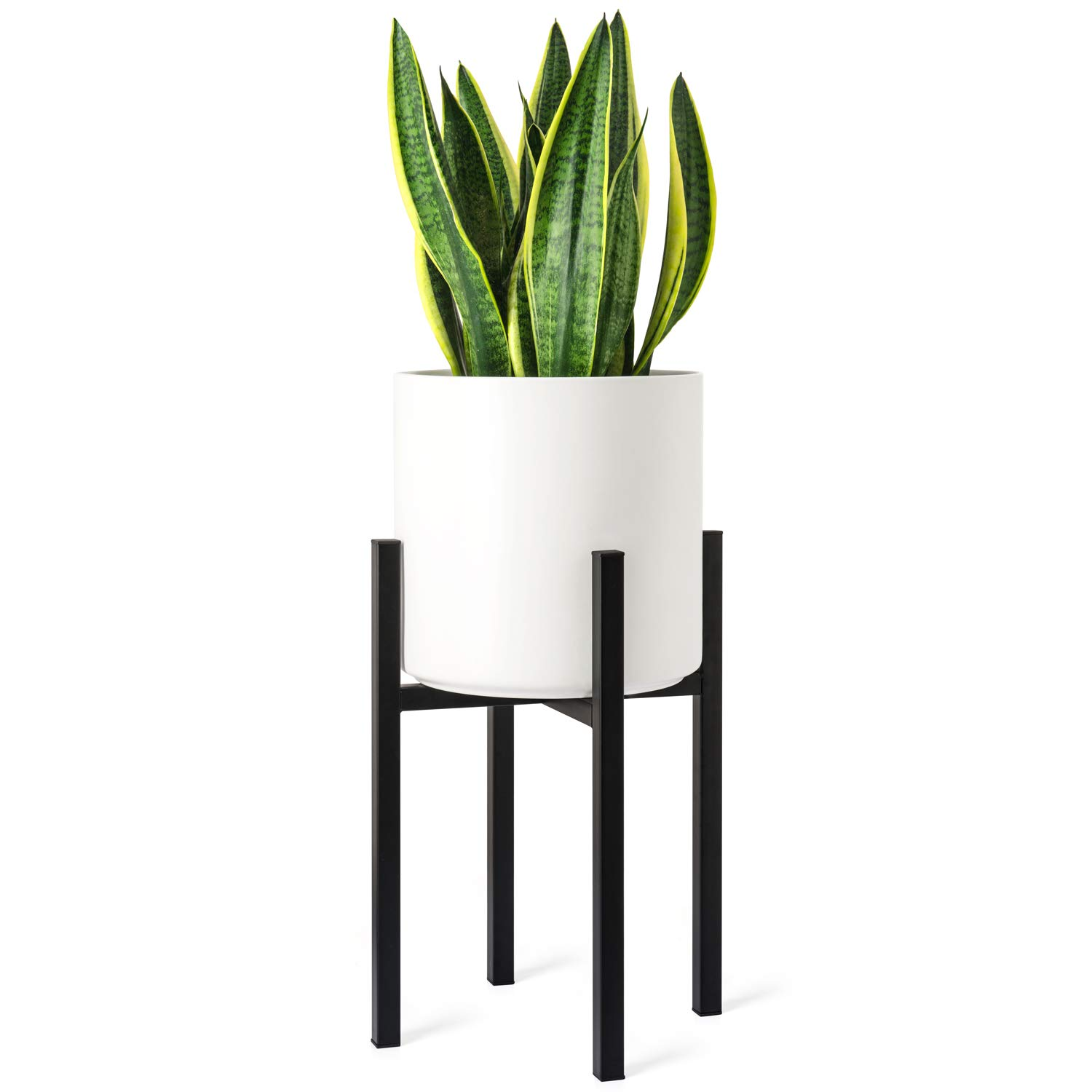 Mkono Plant Stand Mid Century Modern Tall Flower Pot Stands Indoor Outdoor Metal Potted Plant Holder Plants Display Rack Fits Up To 10 Inch Planter Planter Not Included Amazon Com Au Lawn Garden