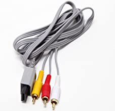 Video Games Part Audio AV Aux Composite RCA Cable Cord for Nintendo WII