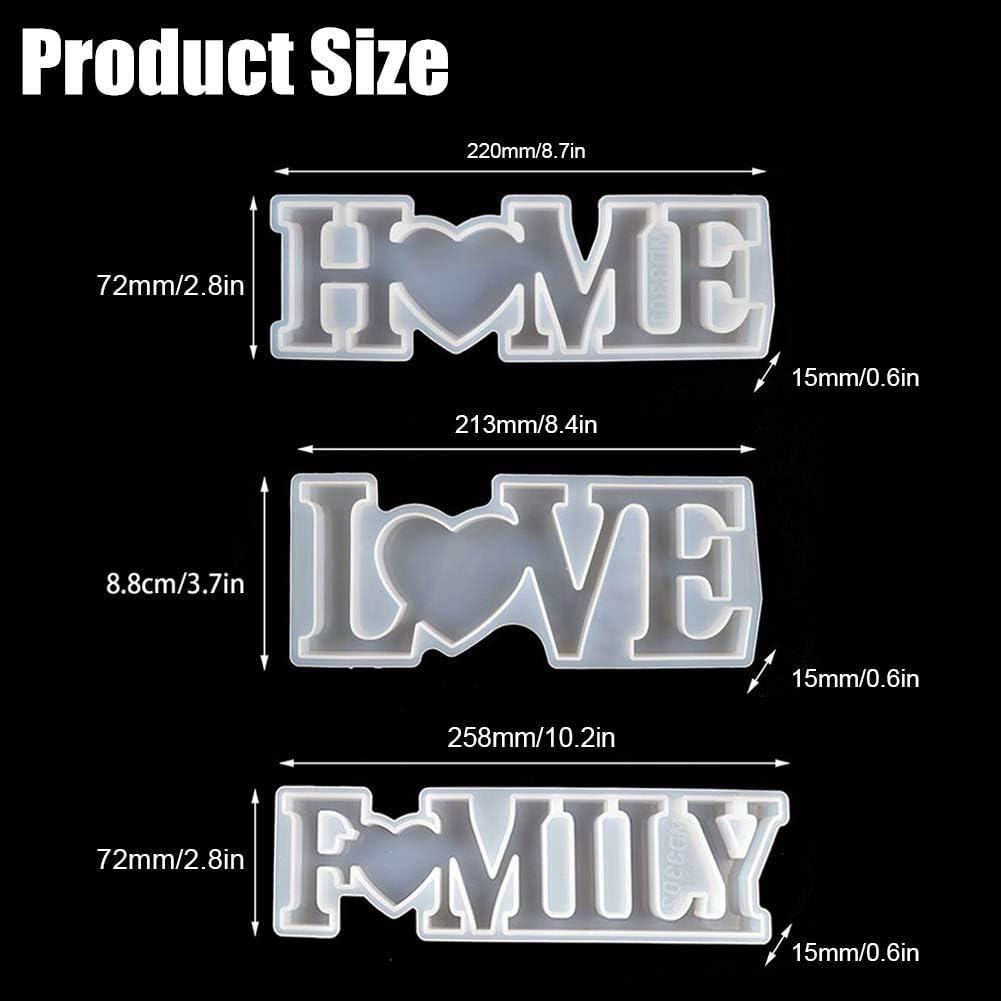 Stampi in resina epossidica per decorazioni fai da te e per la tavola fai da te Aiboria Love Home Family