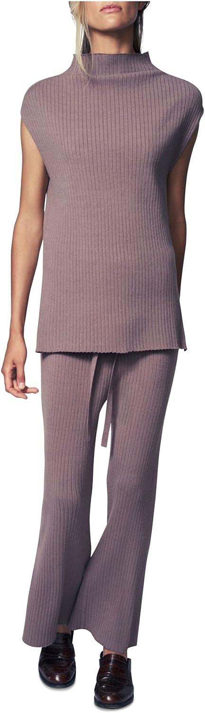 b new york Women's Recycled Sleeveless Funnel Neck Tunic Sweater