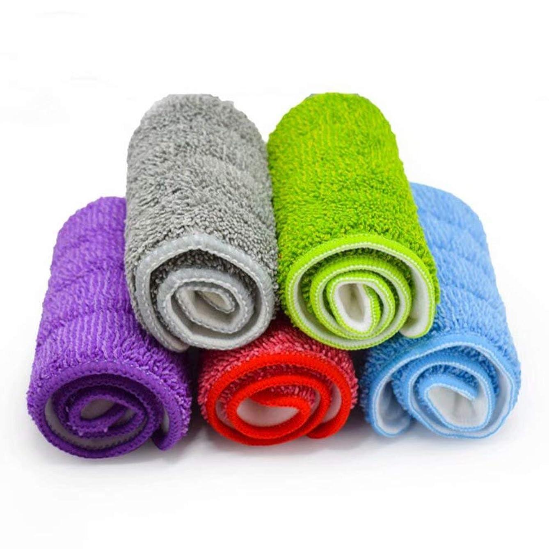 VacFit 5 Pieces Mop Head Replacement Hardwood Floor Cleaner Spray Mop 16.5 x 5.5 Inch (Red+Green+Blue+Purple+Grey)