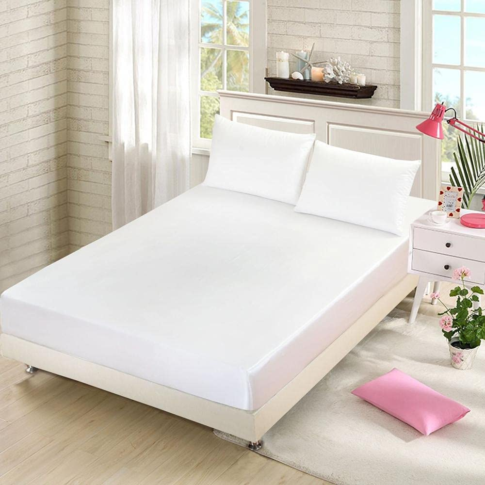 CFYCYHDZHT Bed 70% OFF Outlet Sheet Queen Size Summer M Color Finally popular brand Satin Solid Silky