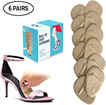 Ball of Foot Cushions 6 Pairs Foot Pads (12 Pieces) | Metatarsal Pads for Women High Heels | Reusable and Washable Shoe Cushion Inserts for Pain Relief from Neuroma, Callus, and Bunions by BelugaCare