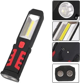 Negro QUICKLYLY 2pc Linterna de trabajo LED Recargable Luz Linterna Delgada Recargable Multifuncional L/ámpara Trabajo Mazorca