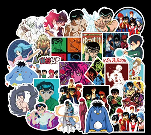 LANYU Pegatinas de Dibujos Animados para Maleta, monopatín, portátil, Equipaje, Nevera, teléfono, Estilo de Coche, Pegatina DIY, 50 Uds