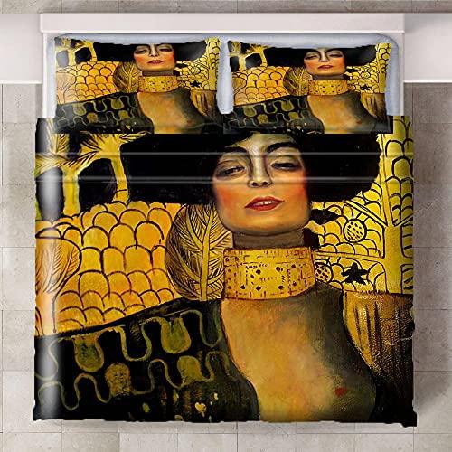 CQIIKJ Fundas nórdicas Impresas en 3D Chica Tribal Creativa Amarilla Negra Microfibra 100% Suave,Cremallera Oculta 260x220cm 2 Fundas de Almohada