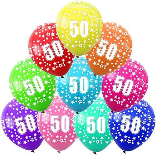 FUNNY HOUSE Decorazioni Compleanno 50 Anno, 50 ° Compleanno Palloncini, Addobbi Compleanno 50 Anni Anniversario Decorazioni Festa Compleanno (30 PCS)