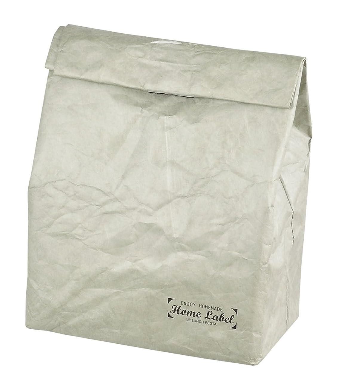 天使接尾辞起点パール金属 紙袋 風 ランチバッグ 保冷 保温 フードバック グレー タイベック 製 ホームレーベル D-458