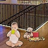 3 Metros Red de Seguridad para Balcones,Red de Seguridad para Niños,Red de Protección del Balcón para Bebé Niños Mascotas,Red de Seguridad para Escaleras de Balcón (A)