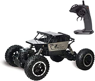 MOGOI Terrain RC Car, 2.4GHz Radio Remote Control Car 4WD Hobby RC Rock Crawlers High Speed Off Road RC Trucks Rechargeable Racing Monster Toy Car For Kids And Adults, Silver
