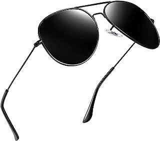 Joopin Classic Polarized Sunglasses for Men - Metal Frame Mirrored Lens Womens Sunglasses E3026