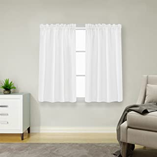 Lazzzy White Curtains for Small Window 45
