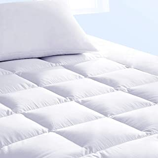 Pure Brands Mattress Topper & Mattress Pad Protector in One - Quality Plush Luxury Down Alternative