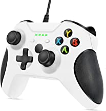 Best VOYEE Controller Replacement for Xbox One, VOYEE Enhanced Wired Controller with Headphone Jack/Double Shock/Upgraded Joystick Compatible with Microsoft Xbox One/X/S/Elite with (White) Review