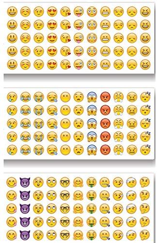 Emoji Sticker Whats App Tagebuch Sticker 12 Blatt 660 Stück | Aufkleber | Kalender | Smilie | Kind | Mädchen | Geschenk |