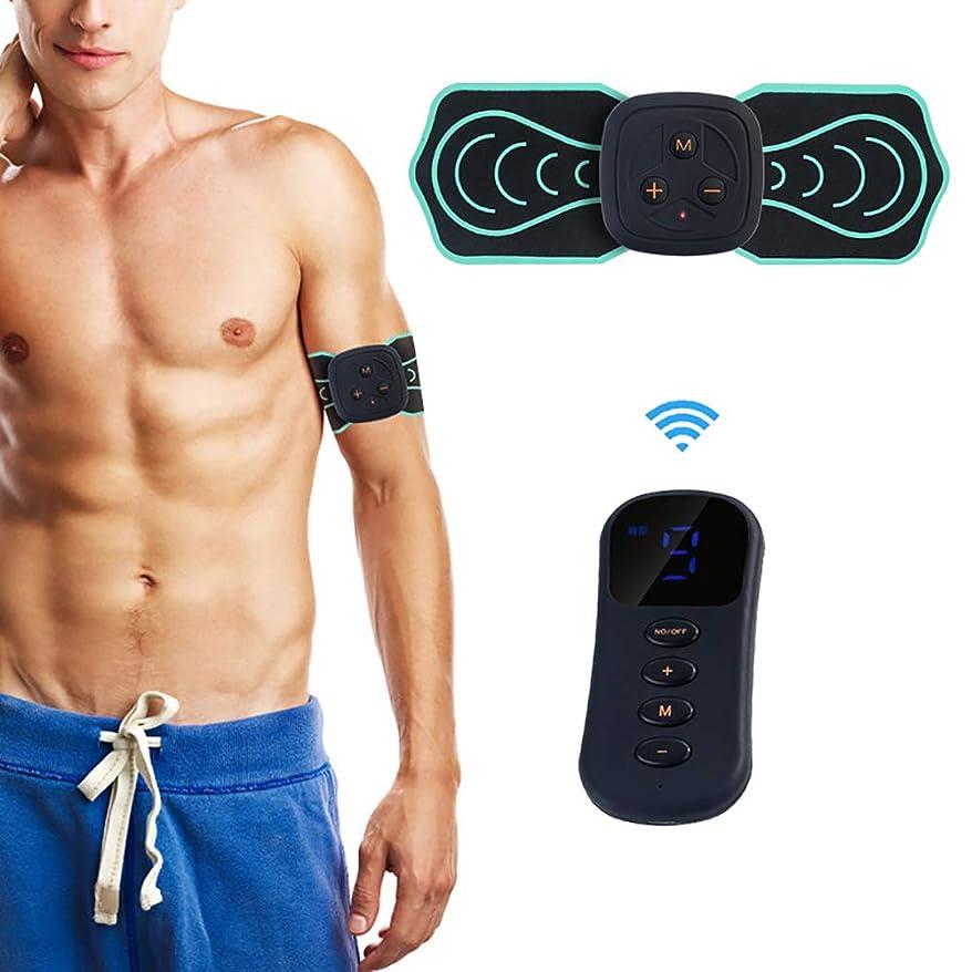 ピラミッド空居眠りするスマートワイヤレスリモコンマッサージャーステッカー多機能電気理学療法器具ミニ頸部マッサージャー6モード,Blue
