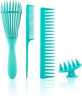 Detangling Brush, Detangler Brush, Hair Brush Comb for Natural,3a to 4c Curly/Kinky Wavy,Wet/Dry,Long/Thick Hair (Blue)