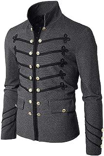 Mens Gothic Steampunk Victorian Coat Costumes Embroider Button Uniform