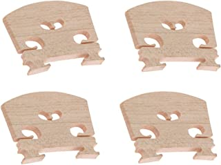 SODIAL Partes de violin Violin-puente-4pc-4/4 Piezas de violin de puente de arce, 4 piezas