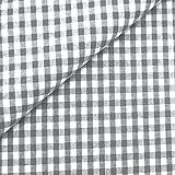 0,5m Vichy-Karo klein 3mm Stoff grau/ weiß Meterware 100%