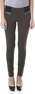 Women's Ponte Skinny Pants - Pull-On -Elastic Waistband - Leggings