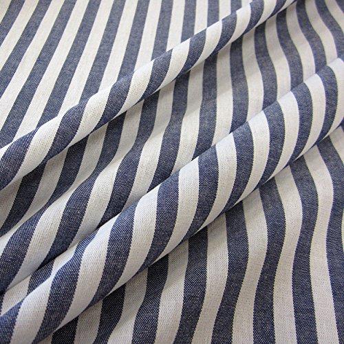 Stoff Meterware Streifen gestreift Marine dunkelblau blau weiß Webstreifen Baumwollstoff Baumwolle 1 cm Streifen durchgewebt