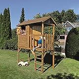 Stelzenhaus Anton 200x100x284cm Kinderspielhaus auf Stelzen mit Balkon aus kesseldruckimprägniertem