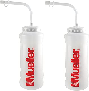 Mueller Quart Bottle w/Straw (New Design) Natural Color w/Red Letters (2-Pack)