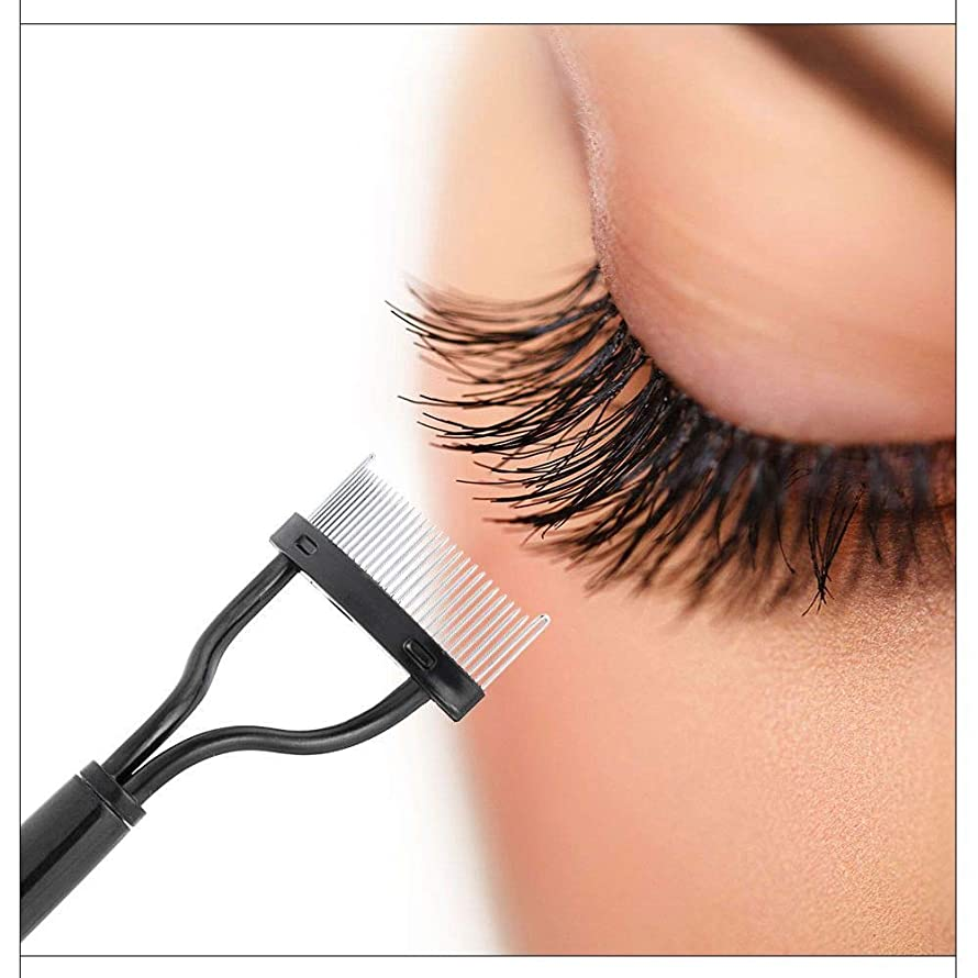Aviat Eyelash Comb Eyebrow Brush Lash Separator Mascara Lift Curl Metal Brush Beauty Makeup Styling Tool for Women Daily Care