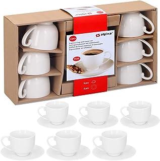 Couleurs Espresso Set Avec Chrome Stand 80 ml 6 Pièce Nouvelle