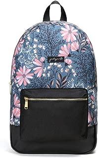Jadyn B Classic Academy Backpack (Navy Floral)