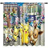 JKSER Kid Room Window Curtain, 63 by 63 inch, Rod Pocket Blackout Curtain, Thermal Insulated Darkening Drapes for Living Room, Kid Bedroom, Colorful Cute Cartoon Animal Boys Girls Room Decor