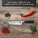 Kirosaku Premium Damastmesser 20cm – Enorm scharfes Küchenmesser aus hochwertigen japanischen Damaszener Stahl, um Problemlos alle Arten von Lebensmittel einfach zu schneiden, Dank bester Qualität - 7