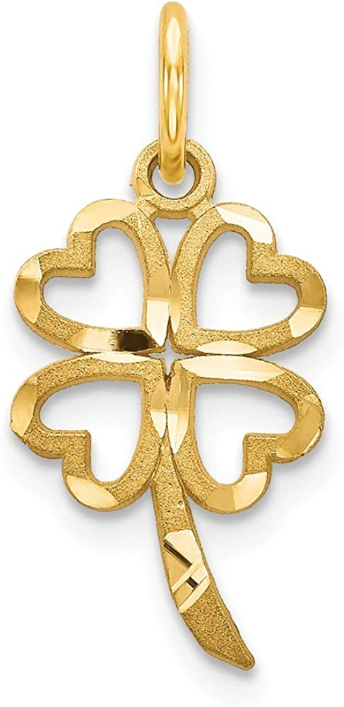 14K Max 51% OFF Yellow Gold 4 Selling Clover Charm Leaf