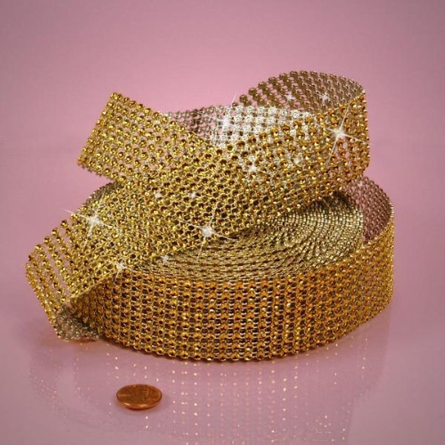 Gold Jewel Ribbon, 1-1/2