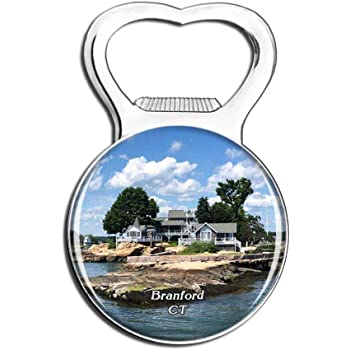 Bran Thimble Islands Connecticut USA Fridge Magnet Bottle Opener Beer City Travel Souvenir Collection Gift Strong Refrigerator Magnet