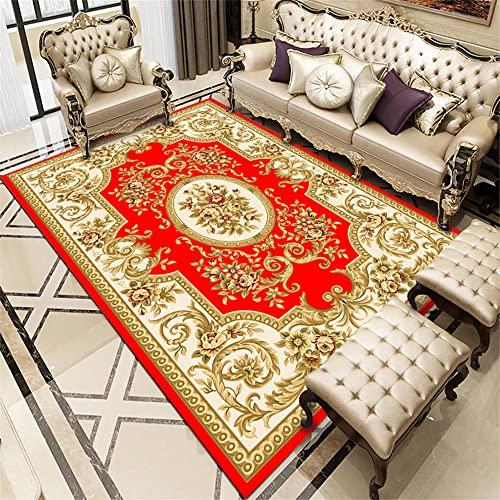Cuadros Cabecero Cama Matrimonio El Dormitorioes Moqueta La alfombra roja de lujo del comedor del dormitorio moderno rectangular se puede modificar para requisitos particulares 180X250CM Tapete Quarto