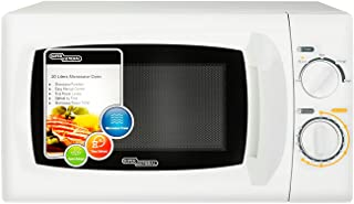 Super General 20 Liter Compact Counter-Top Microwave Oven, 700W Power, SGMM-921, Defrost, Quick-Reheat, White, 46.5 x 35 x...