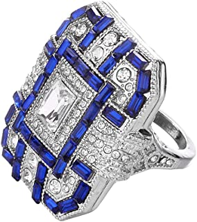 Deals Rings,Women's Stylish Women Crystal Silver Cubic Zirconia Band Ring Jewelry Gift