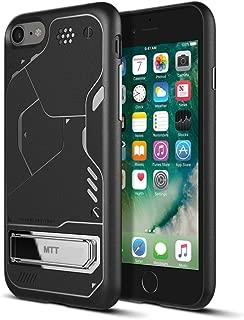 MTT Apple iPhone 8 / iPhone 7 Shock Proof Rugged Armor Case (BLACKwSTAND)