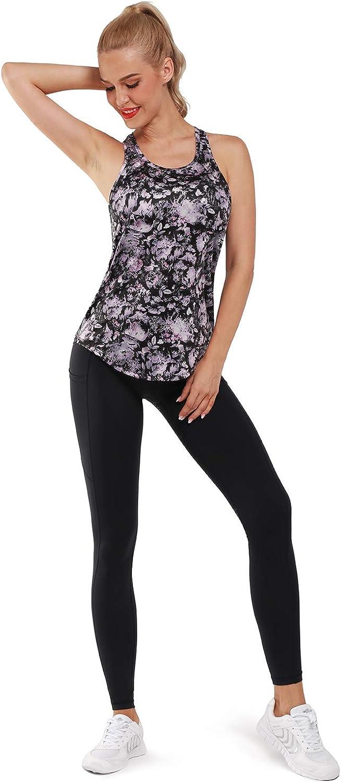 Promover/Damen/Yoga/Top/Jogging/Racerback/Tank/Top/Atmungsaktive/Workout/Gym/Shirt/Sporttop/Damen/Lauftop/Fitness//Ärmelloses/Shirt