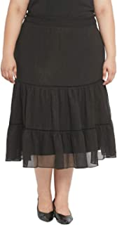 aLL Plus Size Solid Full Length Skirt