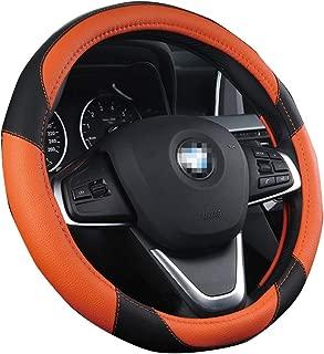 XiXiHao Steering Wheel Covers for E90 320 318i 320i 325i 330i 320d X1 328xi 2007 Soft Microfiber Leather Orange