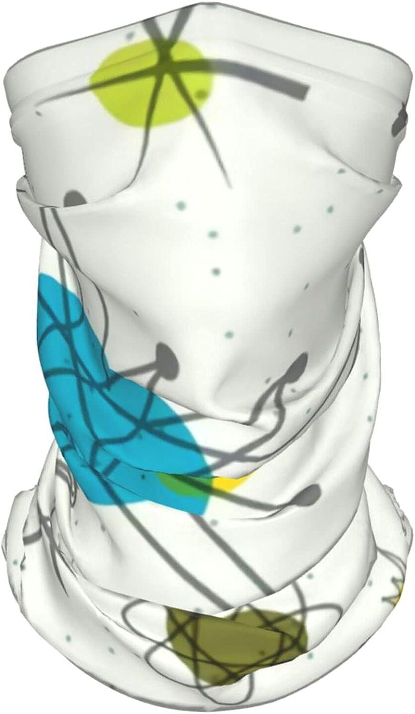 Mid Century Modern5 Neck Gaiter Multipurpose Headwear Ice Silk Mask Scarf Summer Cool Breathable Outdoor Sport 4 Pcs